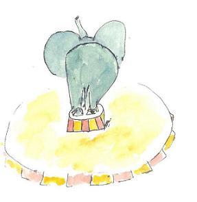 olifant op tonnetje 001 - kopieklein