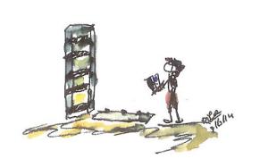 boekenkast in elkaar zetten kopieklein