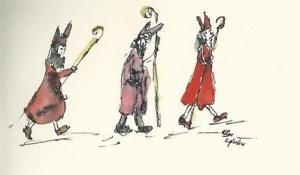Loopjes van Sinterklaaskopieklein