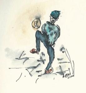 Voetballer op straat 1 kopieklein