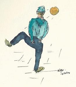 voetballer op straat 2 kopieklein