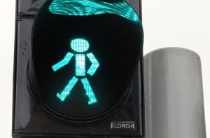 voetgangerslicht groen Gdansk - kopieklein