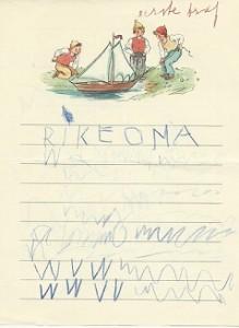 eerste brief Rike kopieklein