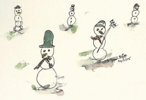 sneeuwpoppen kopieklein