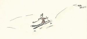 Skiër kopieklein